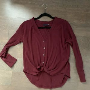 Abercrombie button up top